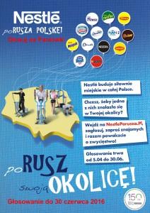 Plakat Nestle Porusza Polskę!